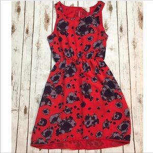 Urban Outfitters Pins and Needles Red Floral Dress